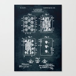 1904 - Playing cards patent art Canvas Print