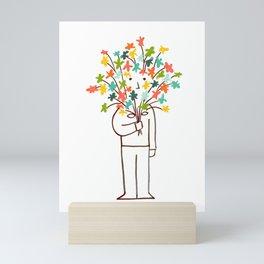 I bring flowers Mini Art Print