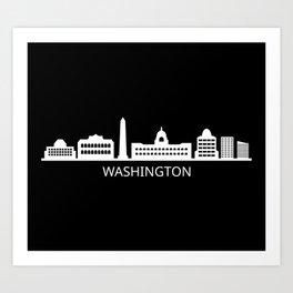skyline washington Art Print