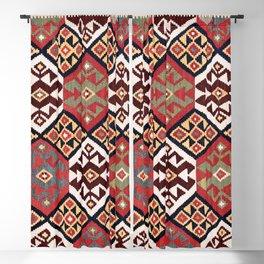Zarand Azerbaijan Northwest Persian Kilim Print Blackout Curtain
