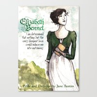 pride and prejudice Canvas Prints featuring Pride & Prejudice by The History Witch