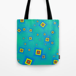 Pattern of disorganized multicolored paintings Tote Bag