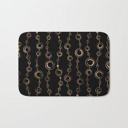 Enso Circle - Zen pattern gold on black Bath Mat
