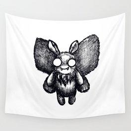 Cutie of the Skies: Mothman (Black) Wall Tapestry