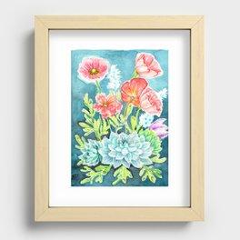 Botanical Aquarelle Recessed Framed Print