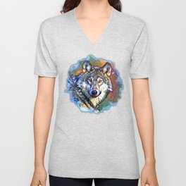 Aura of the Wolf Unisex V-Neck