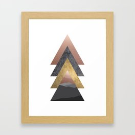 Valley, Scandinavian Modern Abstract Framed Art Print