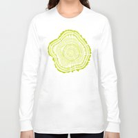 tree rings Long Sleeve T-shirts featuring Lime Tree Rings by Cat Coquillette