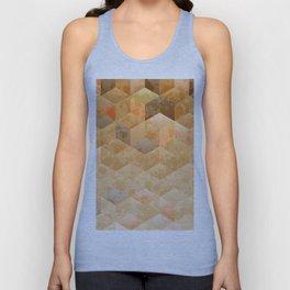 Smooth gradient cubes in orange tones Unisex Tank Top