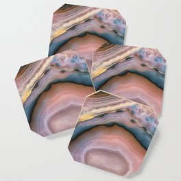 Pink and Blue agate 0425 Coaster