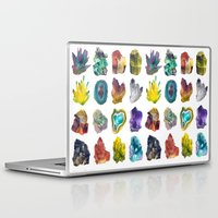 crystals Laptop & iPad Skins featuring Crystals by ShannonPosedenti