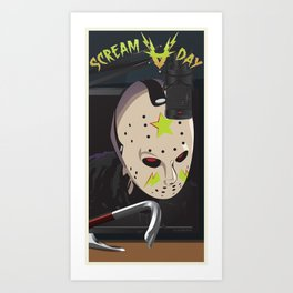 Scream A Day Art Print