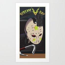 Scream A Day Art Print
