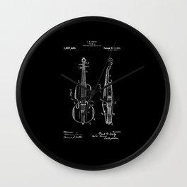 Violin Patent Wall Clock