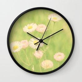 Soft Little Pink Flowers Wall Clock