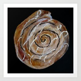 Cinnamon Swirl Bakery Still Life Acrylic Painting Art Print