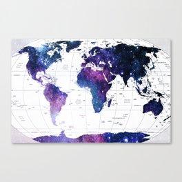 ALLOVER THE WORLD-Galaxy map Canvas Print