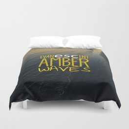 Evanescent Escape ~ Amber Waves Duvet Cover