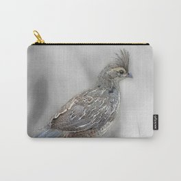 Baby Quail Art-Barbara Chichester Carry-All Pouch