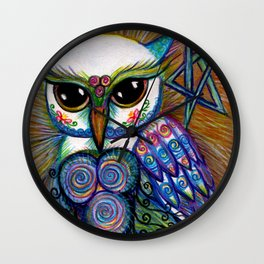 Owls are Magic, original illustration by Sheridon Rayment from Spirit Owl Series. Wall Clock