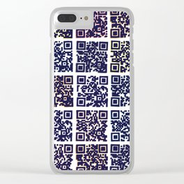 QR Codes to Playlists Clear iPhone Case