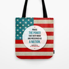 Preserved us a Nation Tote Bag
