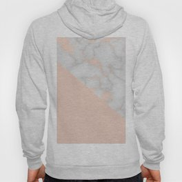 Rose gold marble and soft blush pink Hoody