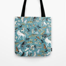 Wolves of the World pattern 2 Tote Bag
