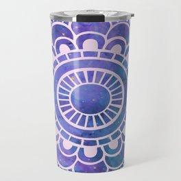 Galaxy Mandala Purple Lavender Blue Travel Mug