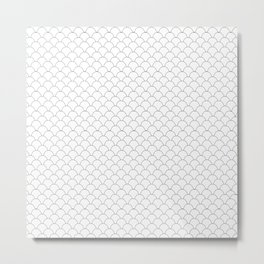 Geometric Black and White Scales Metal Print