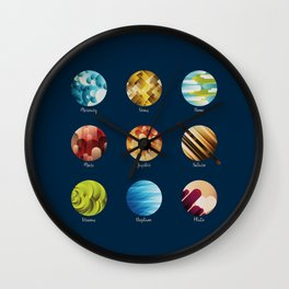 Away from Home and Back - dark Wall Clock