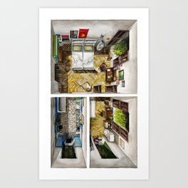 CALL ME BY YOUR NAME. Elio and Oliver's bedrooms Art Print