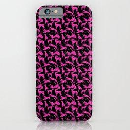 Greyt Pink Glitter-look Greyhounds iPhone Case