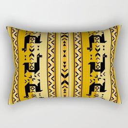 Llamas_Mustard Rectangular Pillow
