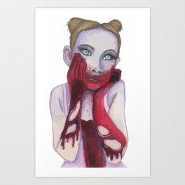 Cute Zombie Girl Art Print