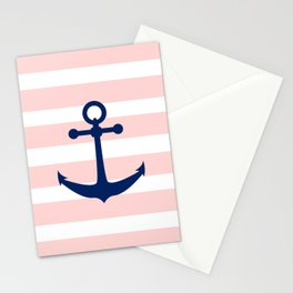 AFE Nautical Navy Ship Anchor Stationery Cards