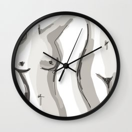 Nude Belly Wall Clock