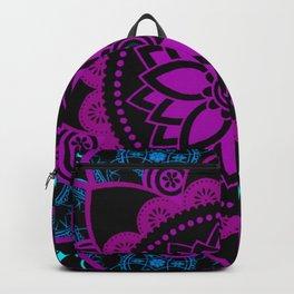 Mandala Purple Blue Spiritual Zen Bohemian Hippie Yoga Mantra Meditation Backpack