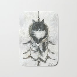 Catcatcher - dreamcatcher Bath Mat