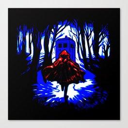 Shadow Light Of Tardis Canvas Print