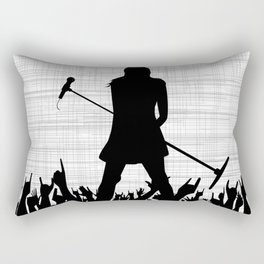 Girl With Microphone Rectangular Pillow