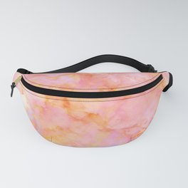 Rosé and Sunny Marble - pink, coral and orange Fanny Pack