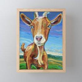 Lillie the FARM GOAT Painting Framed Mini Art Print