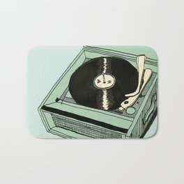 Record Player Bath Mat