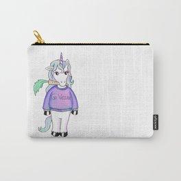 go vegan unicorn Carry-All Pouch