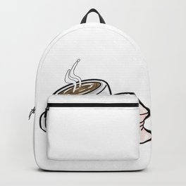 HOT CHOCOLATE AND MARSHMALLOW Love funny comic Backpack