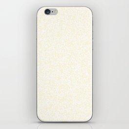 Tiny Spots - White and Cornsilk Yellow iPhone Skin
