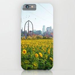 Minneapolis Minnesota Skyline and Sunflowers-Mpls iPhone Case