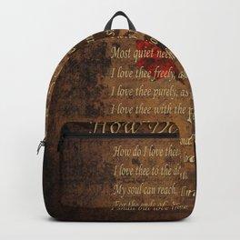 Vintage Poem 4 Backpack