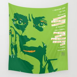 James Baldwin Quote Wall Tapestry